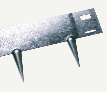 Bordure de jardin flexible en acier brut galvanisé