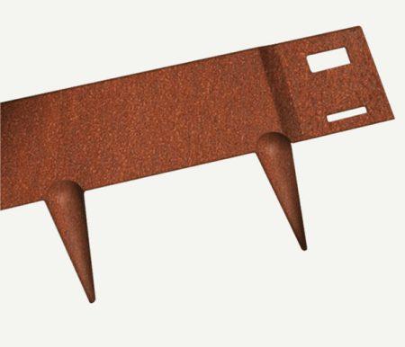 Bordure de jardin flexible en acier CorTen autopatinable, aspect rouille